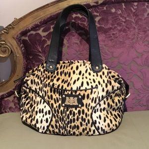 Juicy couture cheetah black bag