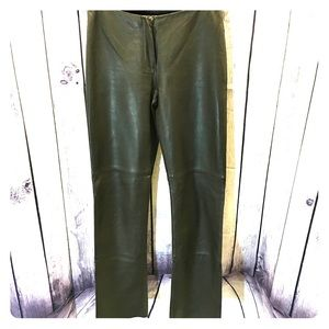 Bebe Genuine 100% Leather Pants green size 2
