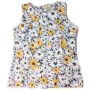 Michael Kors Daisy Print Sleeveless Blouse XL