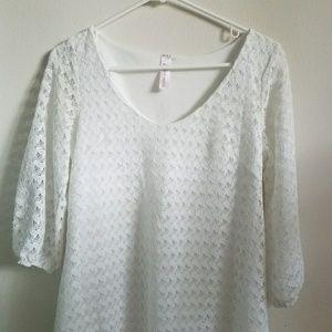 Francescas White Lace Tunic Dress