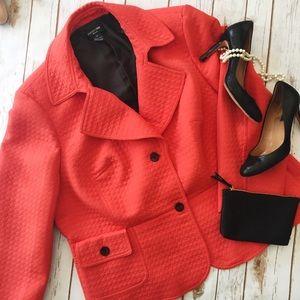 Jackets & Blazers - Focus 2000 orange quilted blazer jacket