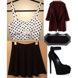 Coincidence & Chance black circle skirt