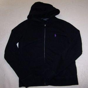 Ralph Lauren Sport Like New Black Zip Up Hoodie