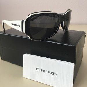 Ralph Lauren Sunglass, Black with White Accent