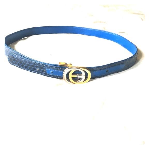 c31beb098 Gucci blue snakeskin GG belt. M_59bfd5b74225be549b010a8e