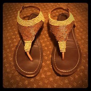 Dolce Vita boho beaded sandals
