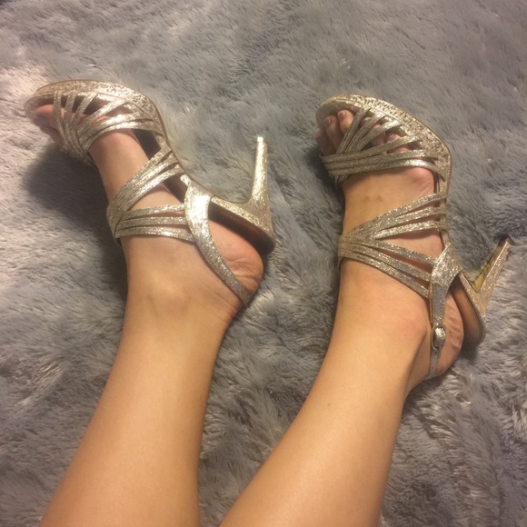 Adrianna Papell Shoes - Adrianna Papell Heels - Gold
