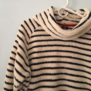Women's Land's End fuzzy cowlneck pullover