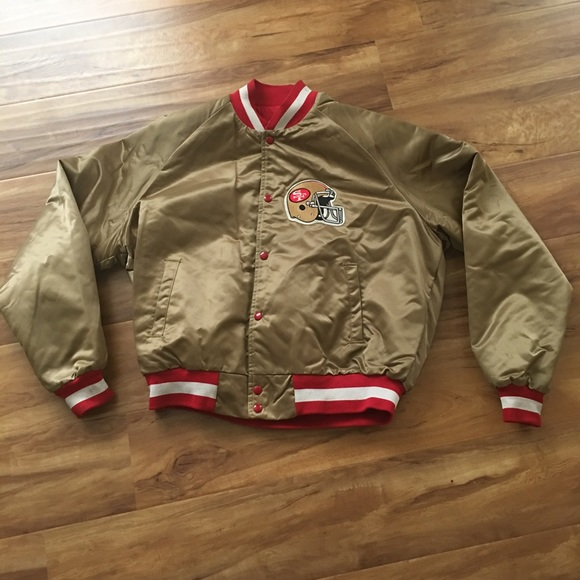 info for c91d5 6e5f1 VTG SF 49ers Chalkline Satin Jacket Rare Stiched