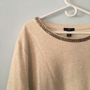 Gap factory sparkle neck sweatshirt
