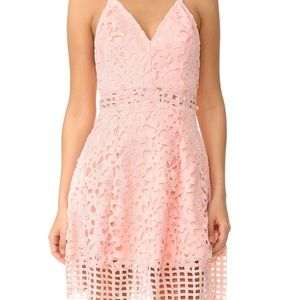 Lovers and Friends XS pink lace dress