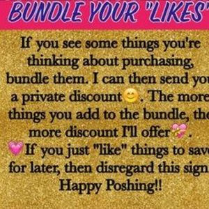 Other - Bundle 3 or more and I'll send private offer!!