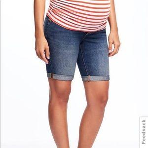 🆕 Maternity Bermuda Denim Shorts