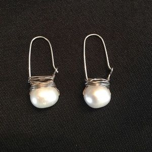 Beautiful and Unique Pearl and Silver Earrings