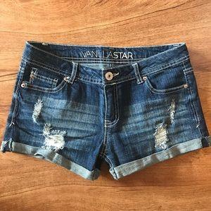 Vanilla Star Denim Shorts