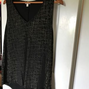 Charming Charlie black dress Tank Top