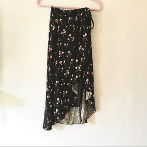 NWOT floral wrap maxi skirt