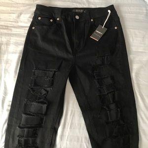 BRAND NEW** Black distressed jeans