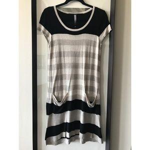 Kensie Striped Sweater Dress
