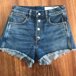 rag & bone high waist denim shorts -ONLY WORN ONCE