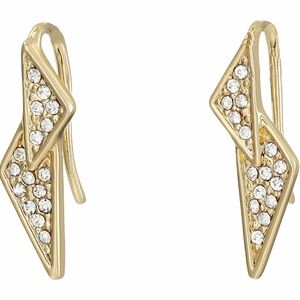 Rebecca Minkoff Pave Double Triangle Earrings