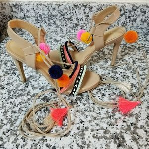 *Brand New* Multi-Color Lace-Up Heels