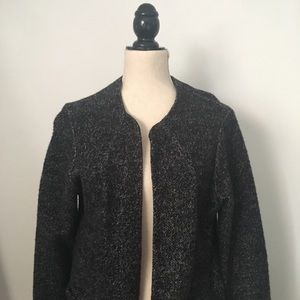 "Zara black tweed ""robe sweater"""