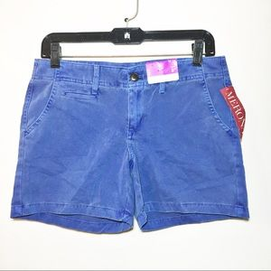 "MERONA Blue Chino Shorts 5"" Inseam NWT"