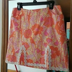 Vintage Lilly Pulitzer Skirt with pockets Size 10
