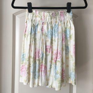 UO Floral Skater Skirt