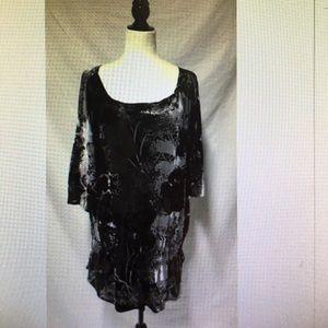 Dress Barn SZ 22/24 Crushed Velvet tunic top