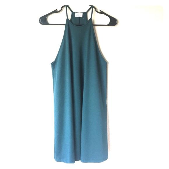 98235c202fb Zara Trafaluc Emerald Green Halter Dress - Size S.  M 59bff236f0928252290162ad
