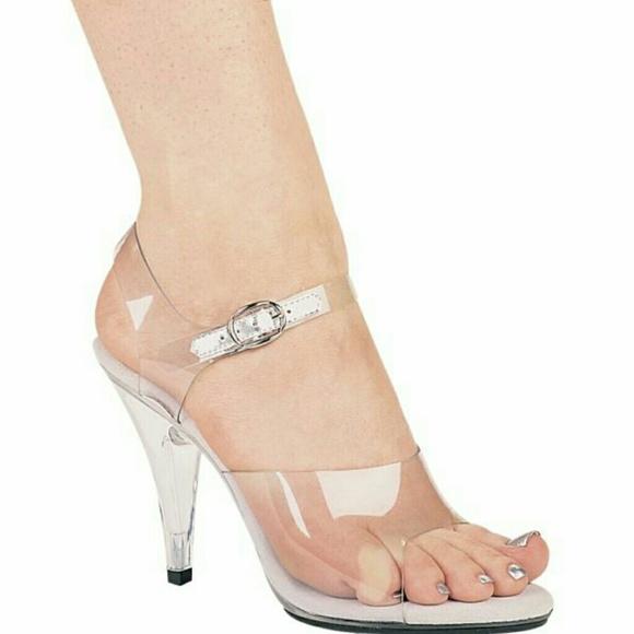 3fd402d0f5b Ellie 405-BROOK Clear Acrylic Heels Strap NEW