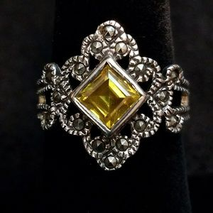 Jewelry - .925 Sterling Silver Marcasite  Ring Sz.7.5