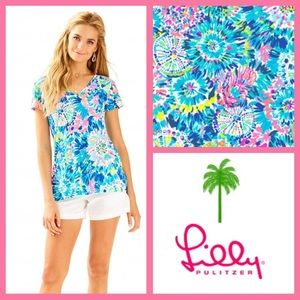 NWT Lilly Pulitzer Meridith Top, Dive In print