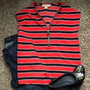 Michael Kors SS striped blouse