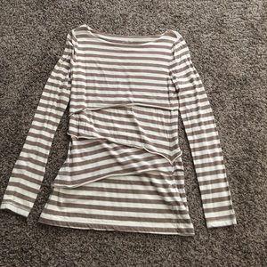 Calvin Klein - Striped Criss-Cross Long Sleeve - M