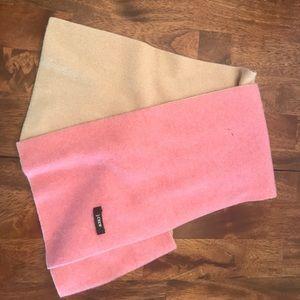 Jcrew cashmere scarf pink/tan