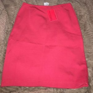 Cute coral/ pink top shop skirt
