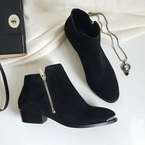 ASOS Black Metal Toecap booties