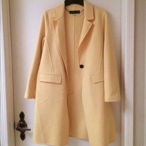 Zara yellow wool coat