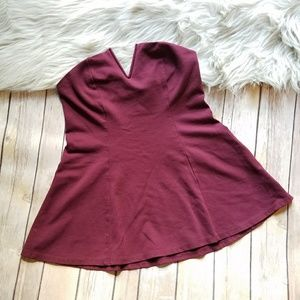 UO Silence + Noise sexy maroon fit flare top Small