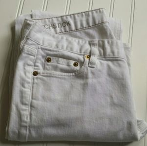 NWOT White J Crew Matchstick Jeans