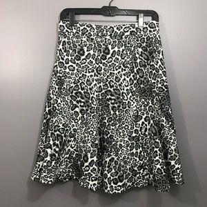 Attyre • Leopard Print Mid Skirt