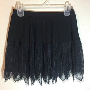 Pleated Chiffon Black Skirt