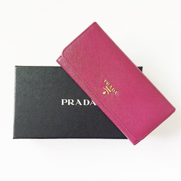 a2095f940af5 Prada Bags   Saffiano Metal Wallet Color Ametista New   Poshmark