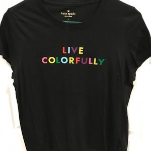 Kate Spade Live Colorfully tee