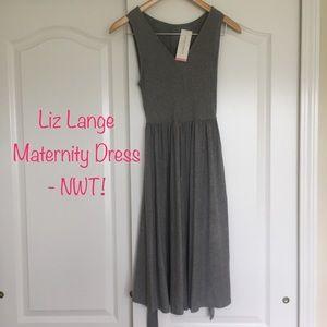 Liz Lange Maternity Sleeveless Grey Dress - NWT!!