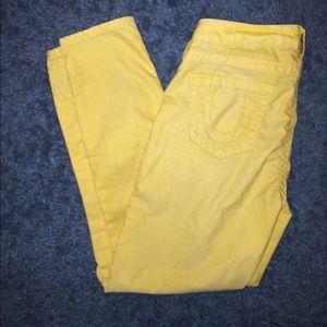 True Religion Corduroy skinny pants