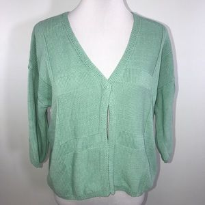 Lafayette 148 Woman's Cardigan Lg Turquoise - SALE